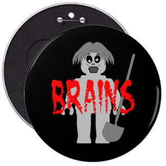 Zombie Minifig 'Brains', Pins