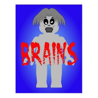 Zombie Minifig 'Brains' Postcard