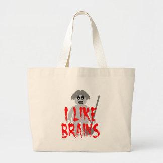 Zombie Minifig 'I Like Brains' Jumbo Tote Bag
