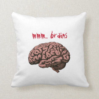 Zombie (mmm... brains) pillow