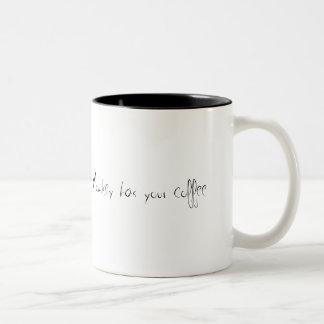 Zombie Monkey has your coffee Two-Tone Coffee Mug