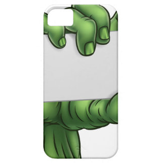 Zombie Monster Halloween Hand Holding Blank Sign Barely There iPhone 5 Case