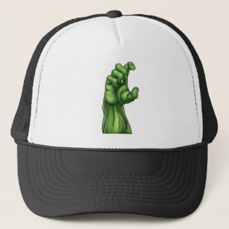 Zombie Monster Halloween Hand Trucker Hat