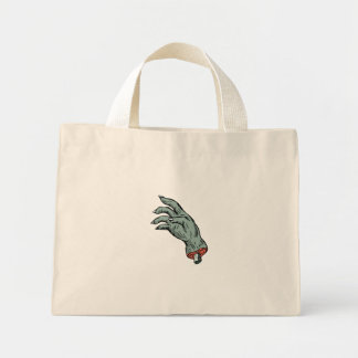 Zombie Monster Hand Drawing Mini Tote Bag