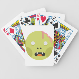 Zombie Monster Head Bicycle Playing Cards