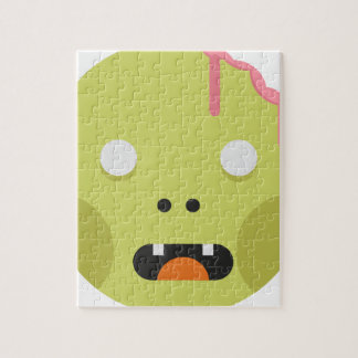 Zombie Monster Head Jigsaw Puzzle