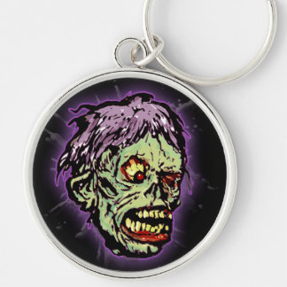 Zombie Monster (shock) Silver-Colored Round Key Ring