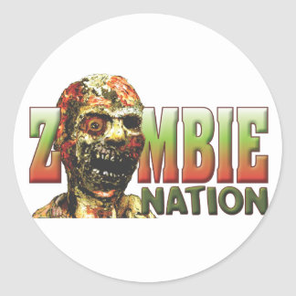 Zombie Nation Classic Round Sticker
