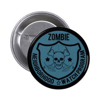 Zombie Neighborhood Watch 6 Cm Round Badge