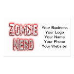 Zombie Nerd Red Business Card Templates