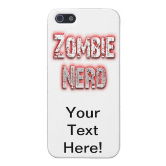 Zombie Nerd Red iPhone 5 Cover