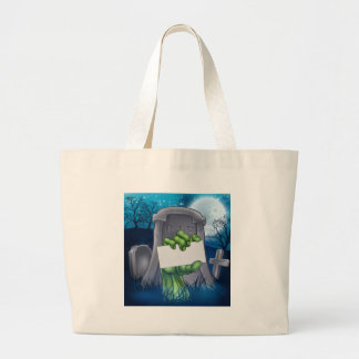 Zombie or Halloween Monster Sign Large Tote Bag