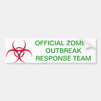 Zombie Outbreak Bumper Sticker