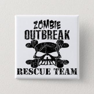 Zombie Outbreak Rescue Team 15 Cm Square Badge