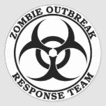Zombie Outbreak Response Team (Biohazard) Round Stickers