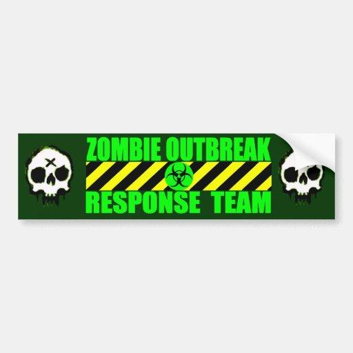 Zombie Outbreak Response Team Bumper Stickers