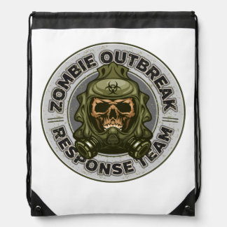 Zombie Outbreak Response Team Drawstring Bag