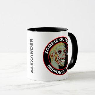 Zombie Outbreak Response Team Fun Personalized Mug
