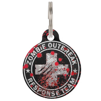 Zombie Outbreak Response Team Medic Pet ID Tag