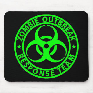 Zombie Outbreak Response Team Neon Green Mousepads