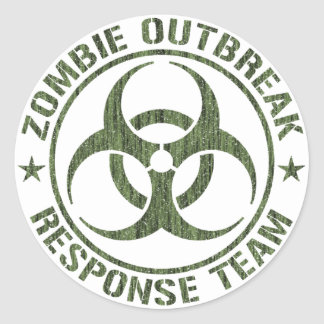 Zombie Outbreak Response Team Round Sticker