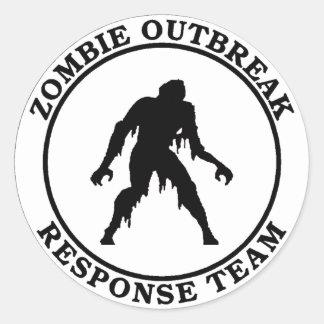 Zombie Outbreak Response Team (Swamp Zombie) Round Sticker