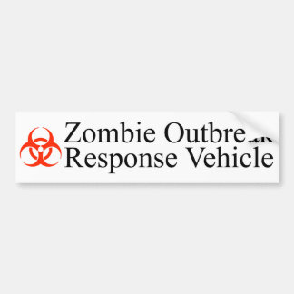 Zombie Outbreak Response Vehicle Bumper Sticker