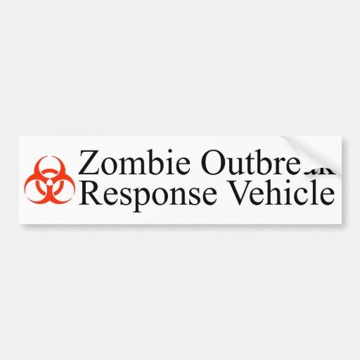 Zombie Outbreak Response Vehicle Bumper Sticker