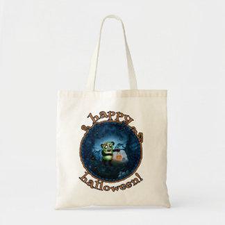 Zombie Panda Happy Halloween Budget Tote Bag