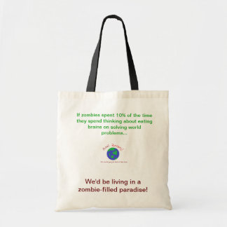 Zombie Paradise Tote Canvas Bags
