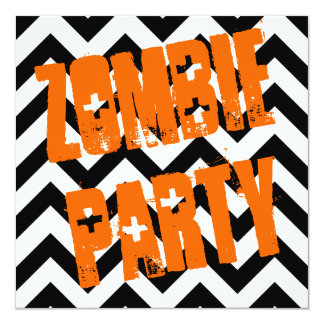 Zombie Party Halloween Party Invite