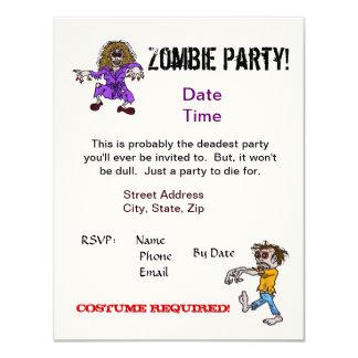Zombie Party Invitation   Customize It!