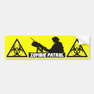 Zombie Patrol - On the Gun Bumper Sticker
