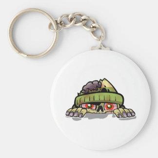 Zombie Peek-A-Boo Basic Round Button Key Ring