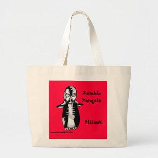 Zombie Penguin: Ffiiissh! Jumbo Tote Bag