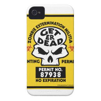 ZOMBIE-PERMIT Case-Mate iPhone 4 CASES