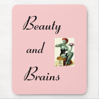 Zombie pin up girl mouse pad