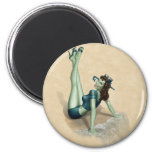Zombie Pinup Girl Fridge Magnets