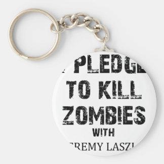 Zombie Pledge Merch Basic Round Button Key Ring