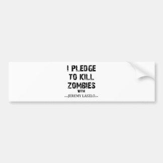 Zombie Pledge Merch Bumper Sticker