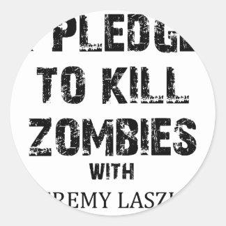 Zombie Pledge Merch Classic Round Sticker