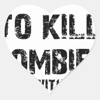 Zombie Pledge Merch Heart Sticker