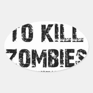 Zombie Pledge Merch Oval Sticker