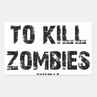 Zombie Pledge Merch Rectangular Sticker