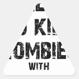 Zombie Pledge Merch Triangle Sticker