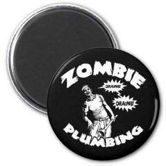Zombie Plumbing 6 Cm Round Magnet