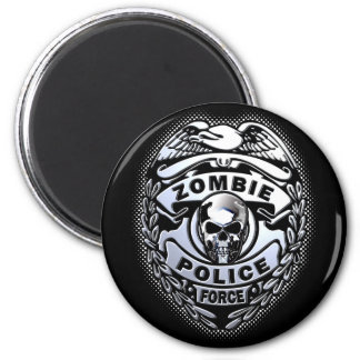Zombie Police Force 6 Cm Round Magnet
