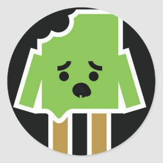 Zombie Popsicle Round Sticker