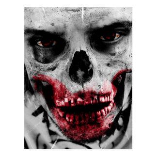 Zombie portrait artistic illustration postcard
