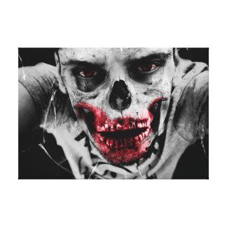 Zombie portrait artistic illustration stretched canvas print